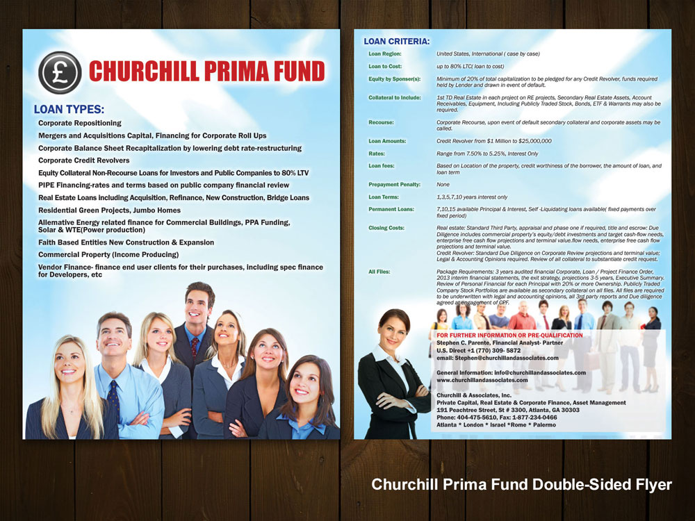 Churchill Prima Fund Double-Sided Flyer