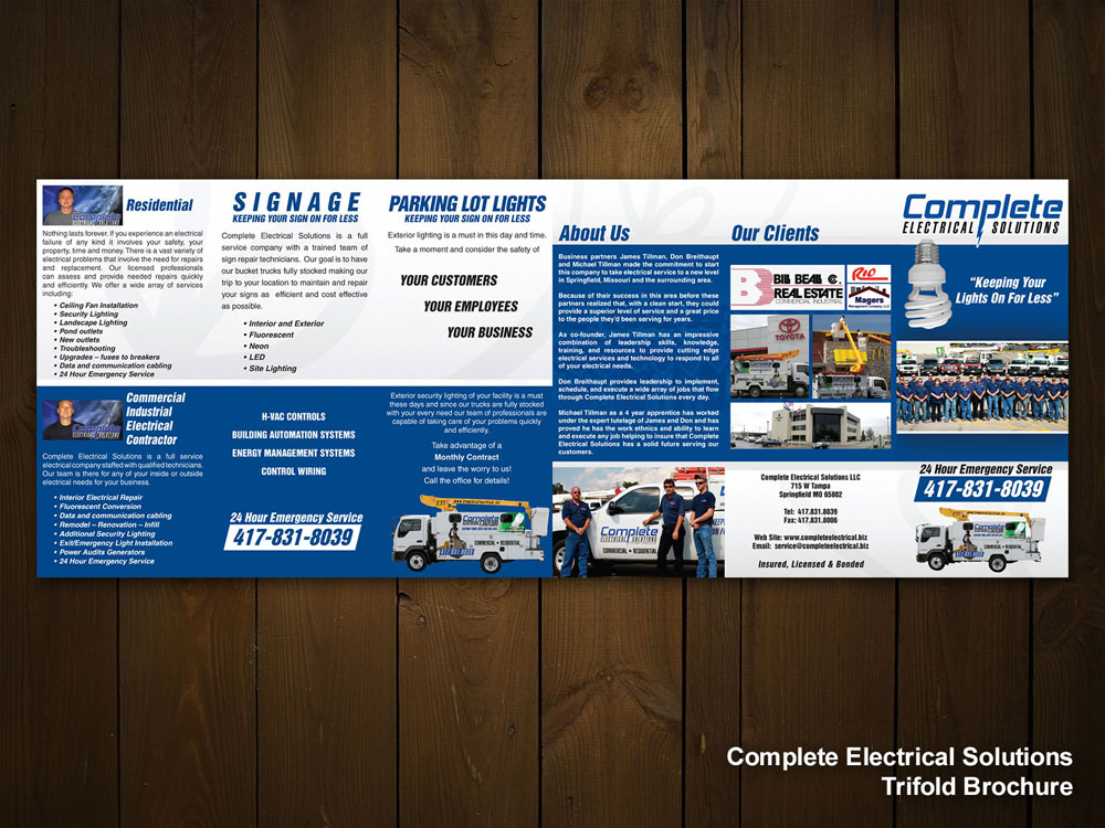 Complete Electrical Solutions Trifold Brochure